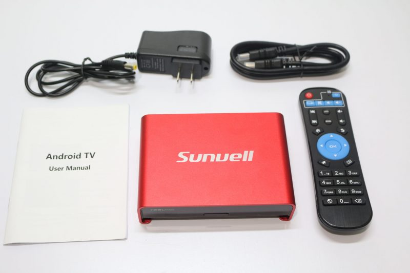 Sunvell T95U Pro in the box