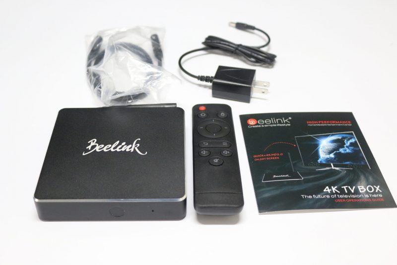 Beelink R68 II TV box contents