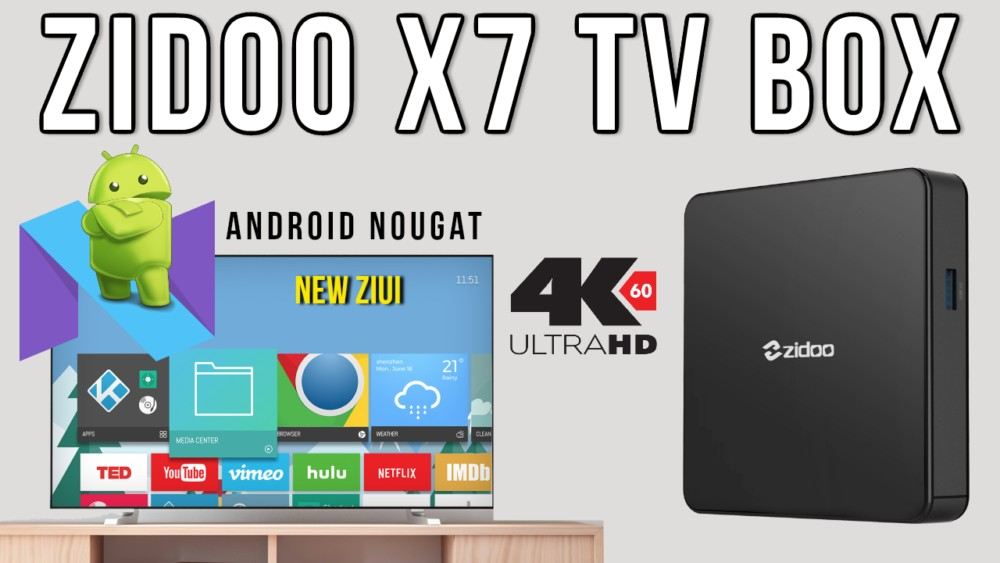 Zidoo X7 Android 7 TV Box