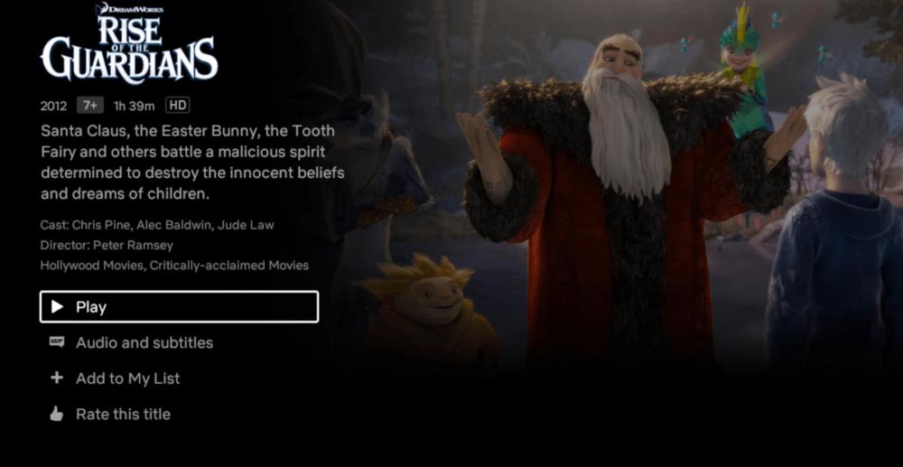 Netflix In HD format Xiaomi Mi Box S