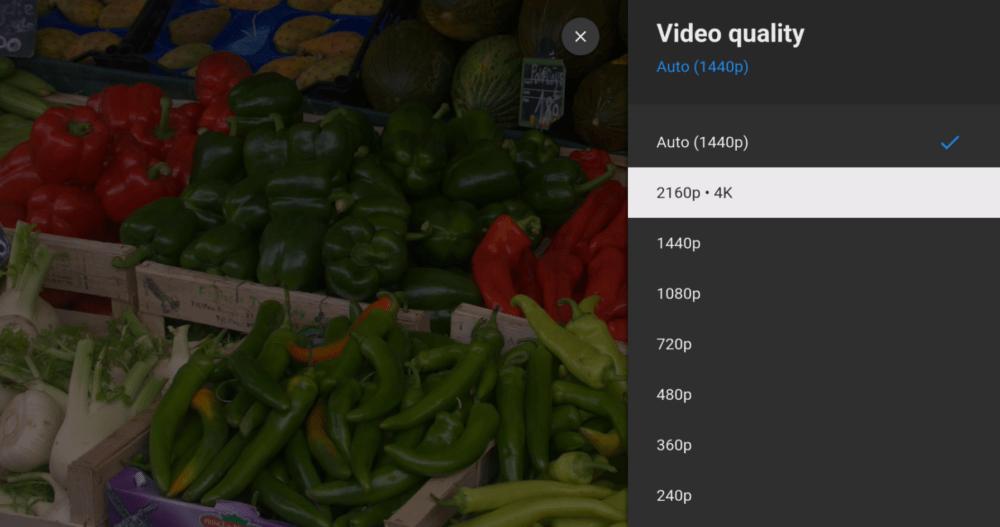 YouTube in 4K quality Xiaomi Mi Box S