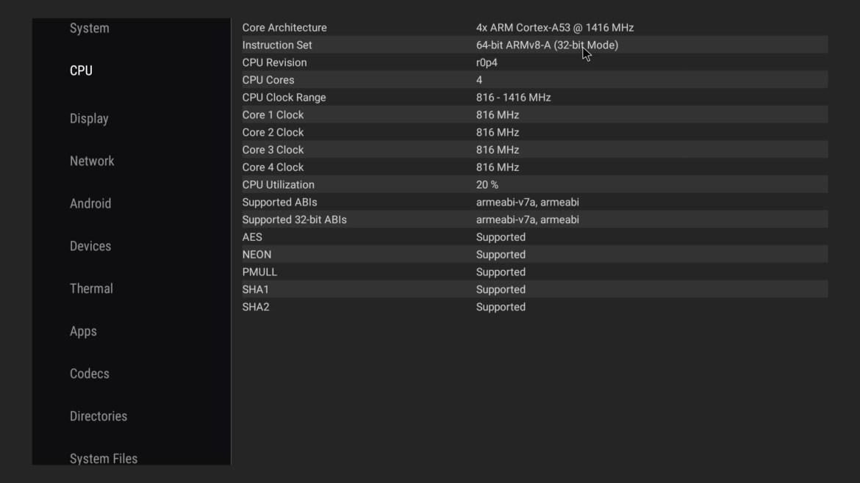 Tanix TX6S CPU info
