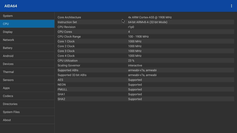 Vontar X3 CPU Info