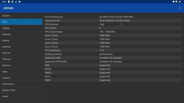 H9 X3 CPU info