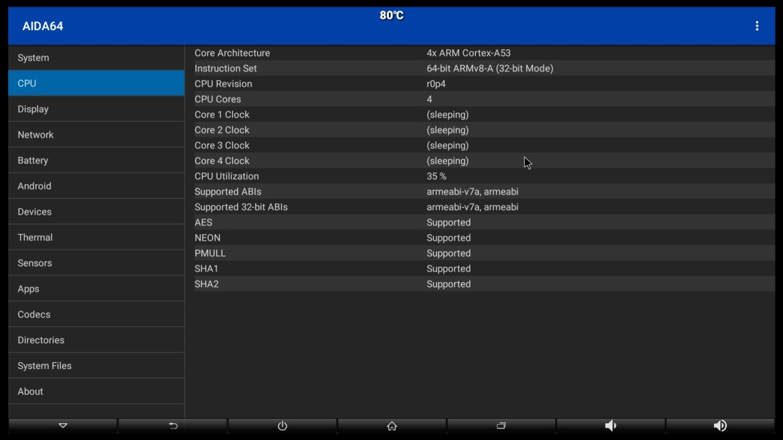 Pendoo X11 Pro CPU information