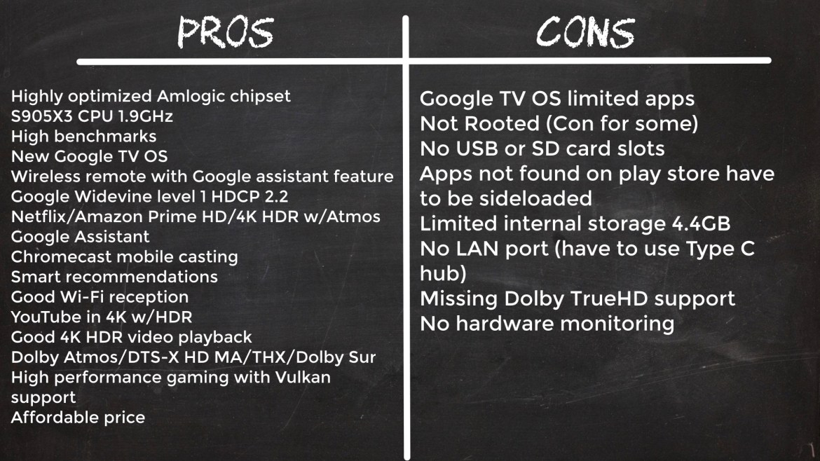 Chromecast with Google TV Pros and Cons