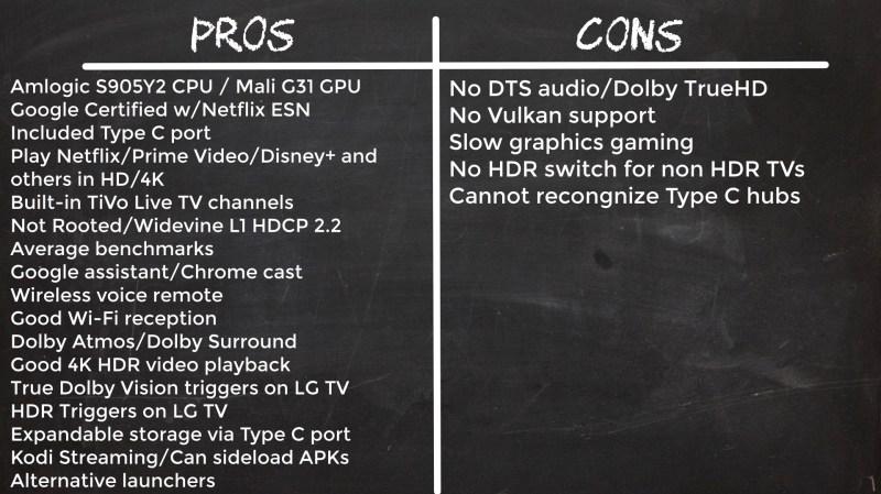 TiVo Stream 4K pros and cons