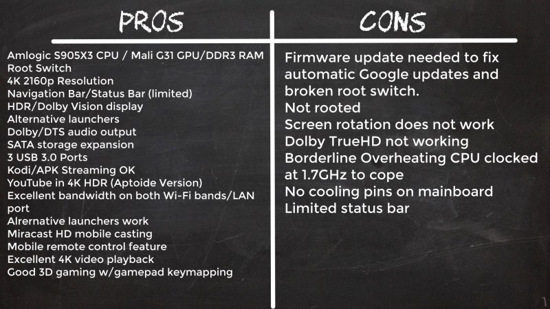 A95X Max II pros and cons
