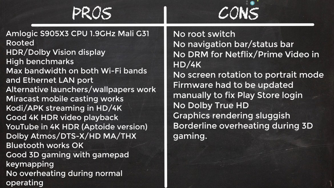 S9 Max TV Box pros and cons