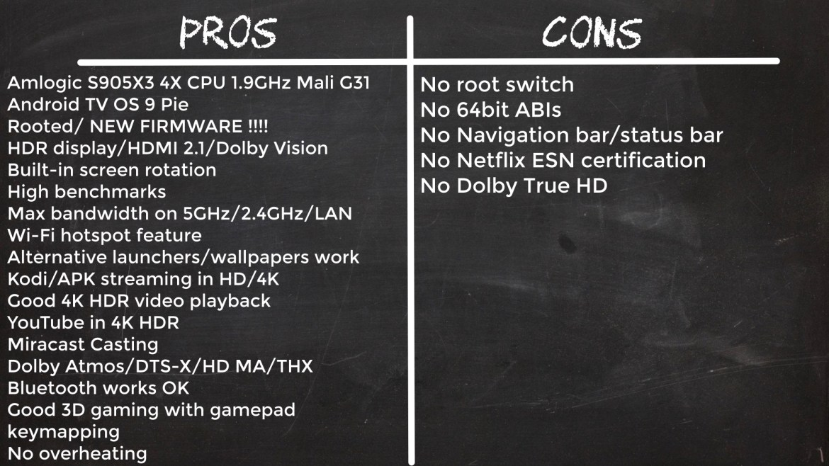 MXQ G10X3 Pros and cons