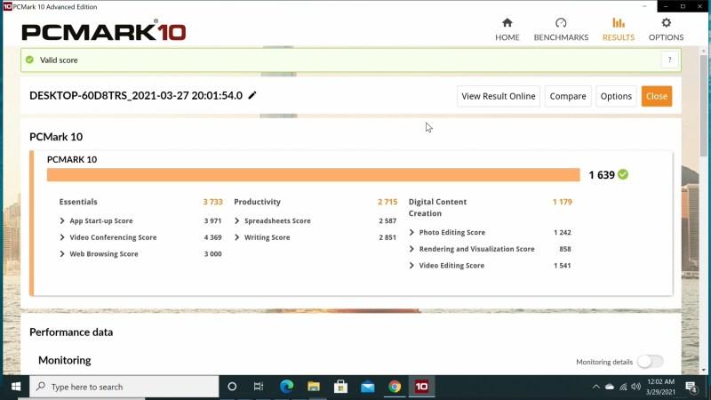 T6 Pro Mini PC Stick PC Mark 10 benchmark