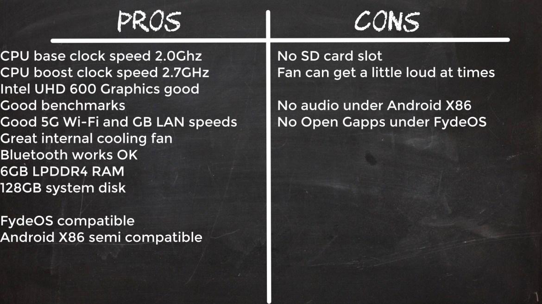 T6 Pro Mini PC Stick Pros and cons