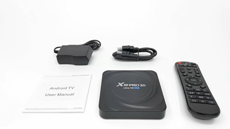 X88 Pro 20 in the box