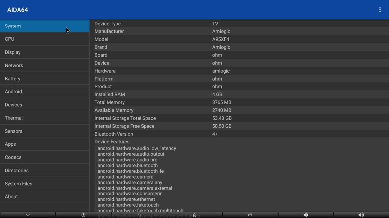 A95X F4 system info
