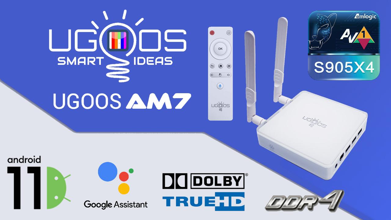 Ugoos AM7 Amlogic S905X4 TV Box
