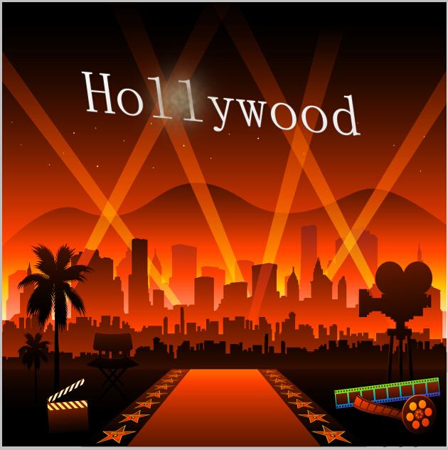 10x10FT-font-b-Hollywood-b-font-City-Buildings-Cartoon