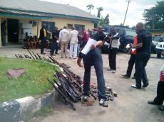 Image result for Oyo Police Command parade 24 suspected cultists