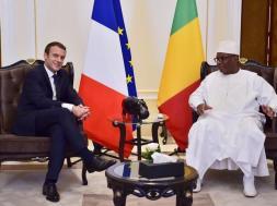 Mali's President Ibrahim Boubacar Keita meets with France's President Emmanuel Macron in Bamako, TVC News.