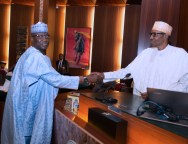 PRESIDENT BUHARI AND NEW SGF BOSS MUSTAPHA