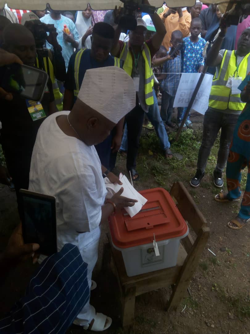 Image result for #OsunVotes: Massive turnout in Ede, as PDP candidate commends exercise