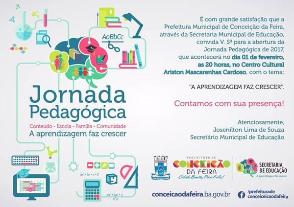 Prefeitura de Conceição da Feira realiza a abertura da Jornada Pedagógica nesta quarta-feira (01/02)
