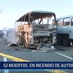 Kazajistán: 52 muertos en incendio de autobús