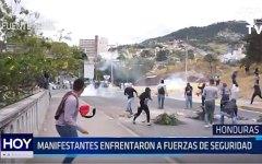 Honduras: Manifestantes enfrentaron a fuerzas de seguridad