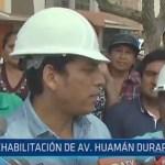 Trujillo: Rehabilitación de Av. Huamán durará 45 días