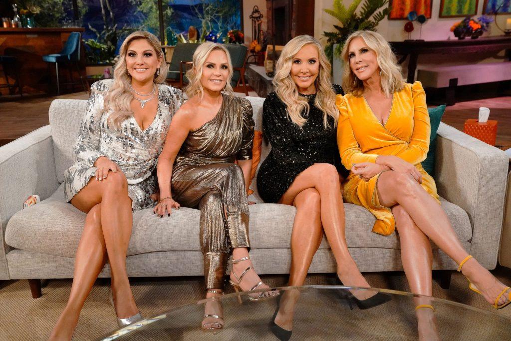 Gina Kirschenheiter, Tamra Judge, Shannon Beador, Vicki Gunvalson, The Real Housewives of Orange County season 14 reunion, Bravo