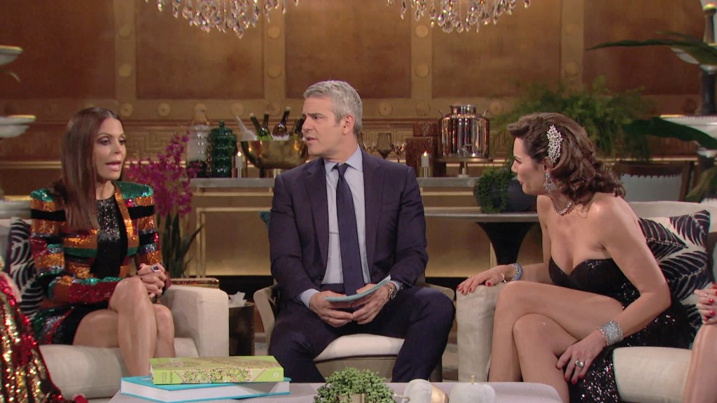 Bethenny Frankel, Andy Cohen, Luann de Lesseps, Ramona Singer, The Real Housewives of New York City, RHONY