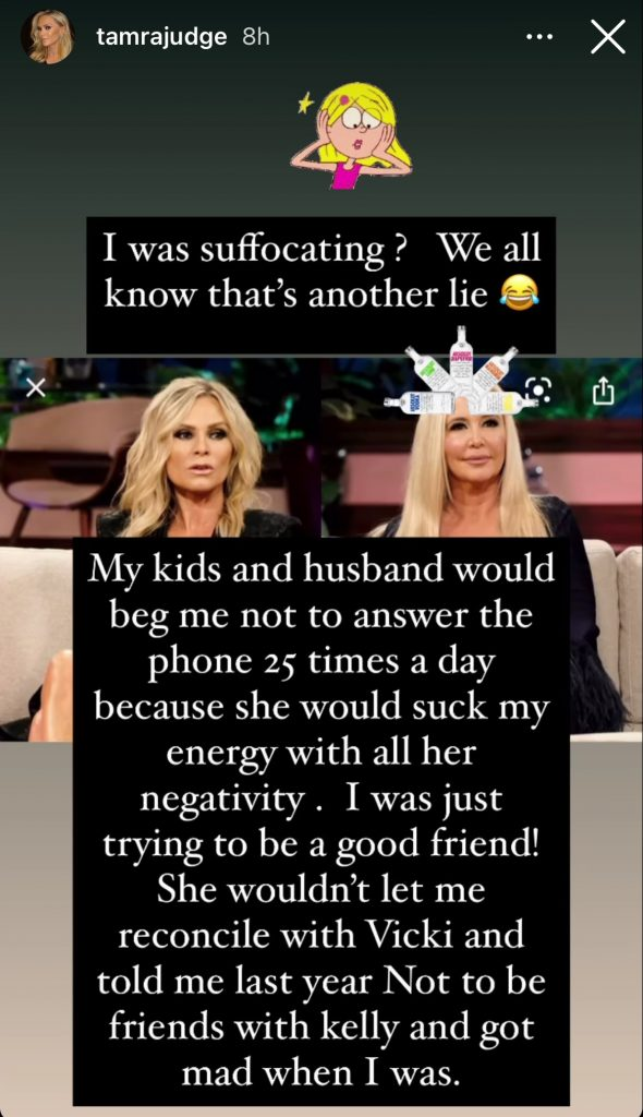 Tamra Judge, Shannon Beador, Elizabeth Lyn Vargas, Tamra and Shannon friendship, The Real Housewives of Orange County, Instagram, Instagram Story, Bravo TV