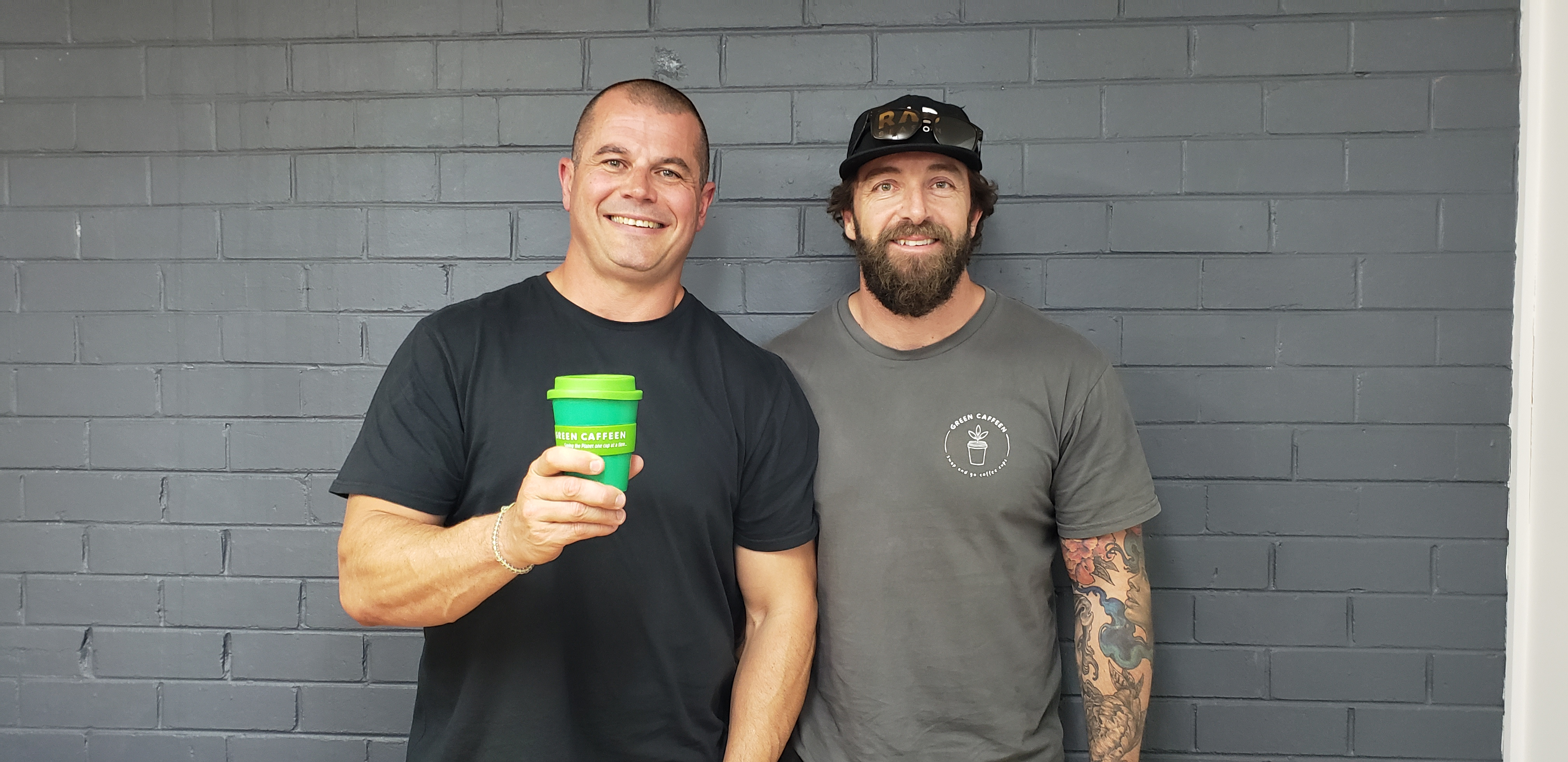 Green Caffeen: Two dads and a green coffee cup