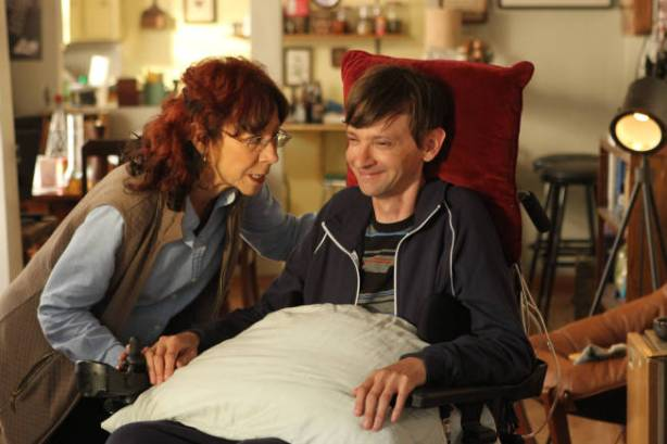 LEGIT -- Episode 5: Justice (Airs Thursday, February 14, 10:30 pm e/p) -- Pictured: (L-R) Mindy Sterling as Janice, DJ Qualls as Billy -- CR: Patrick McElhenney/FX