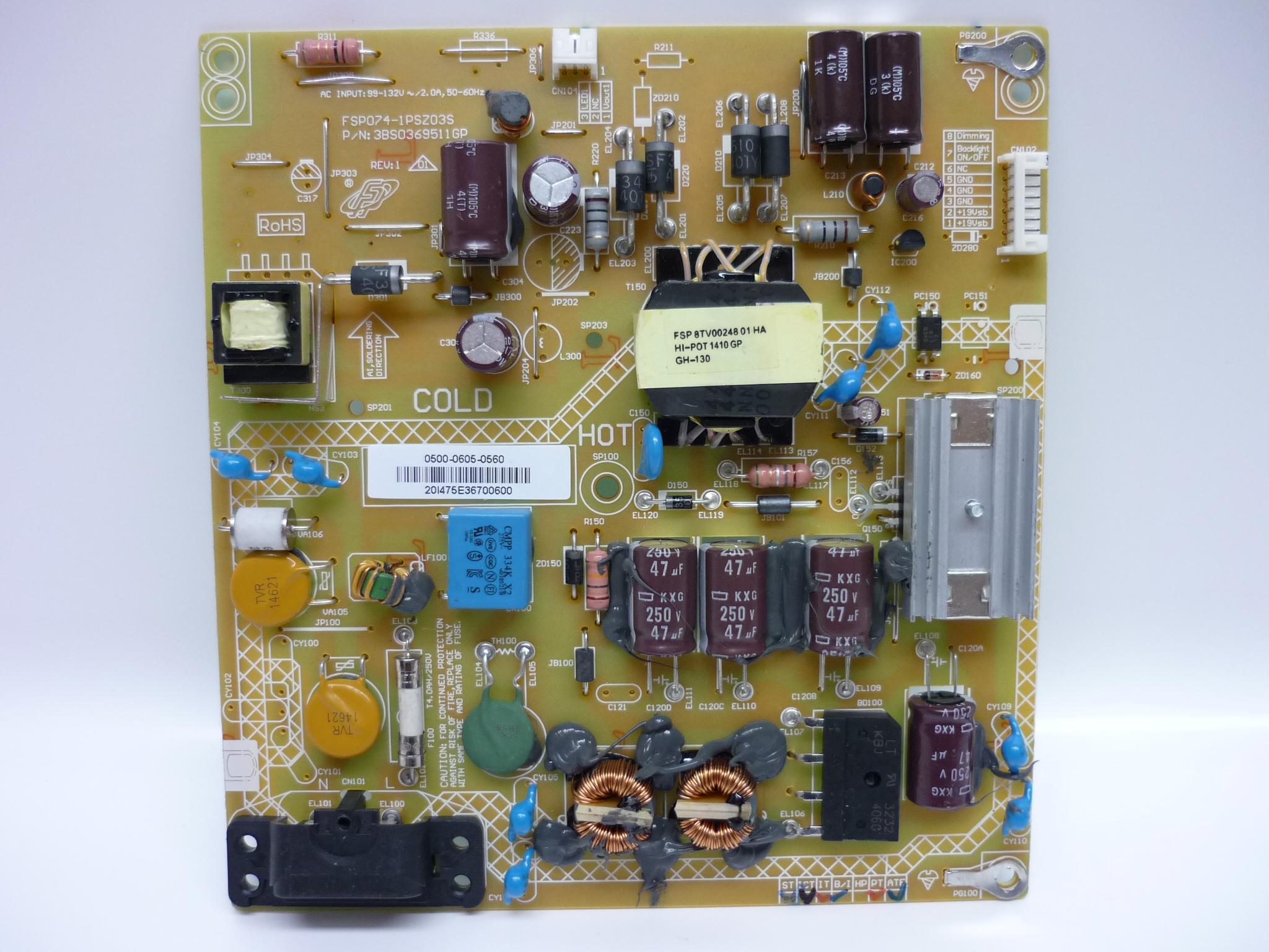 Sharp 0500-0605-0560 Power Supply