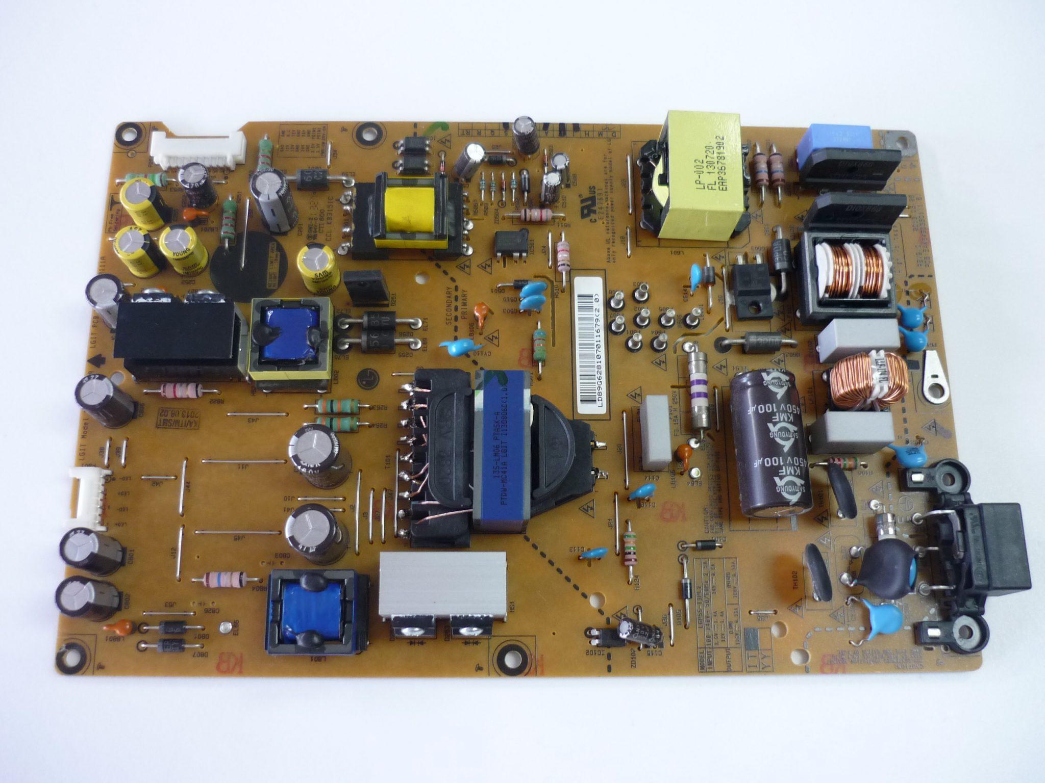 LG EAY62810701 (3PAGC10124A-R) Power Supply / LED Board