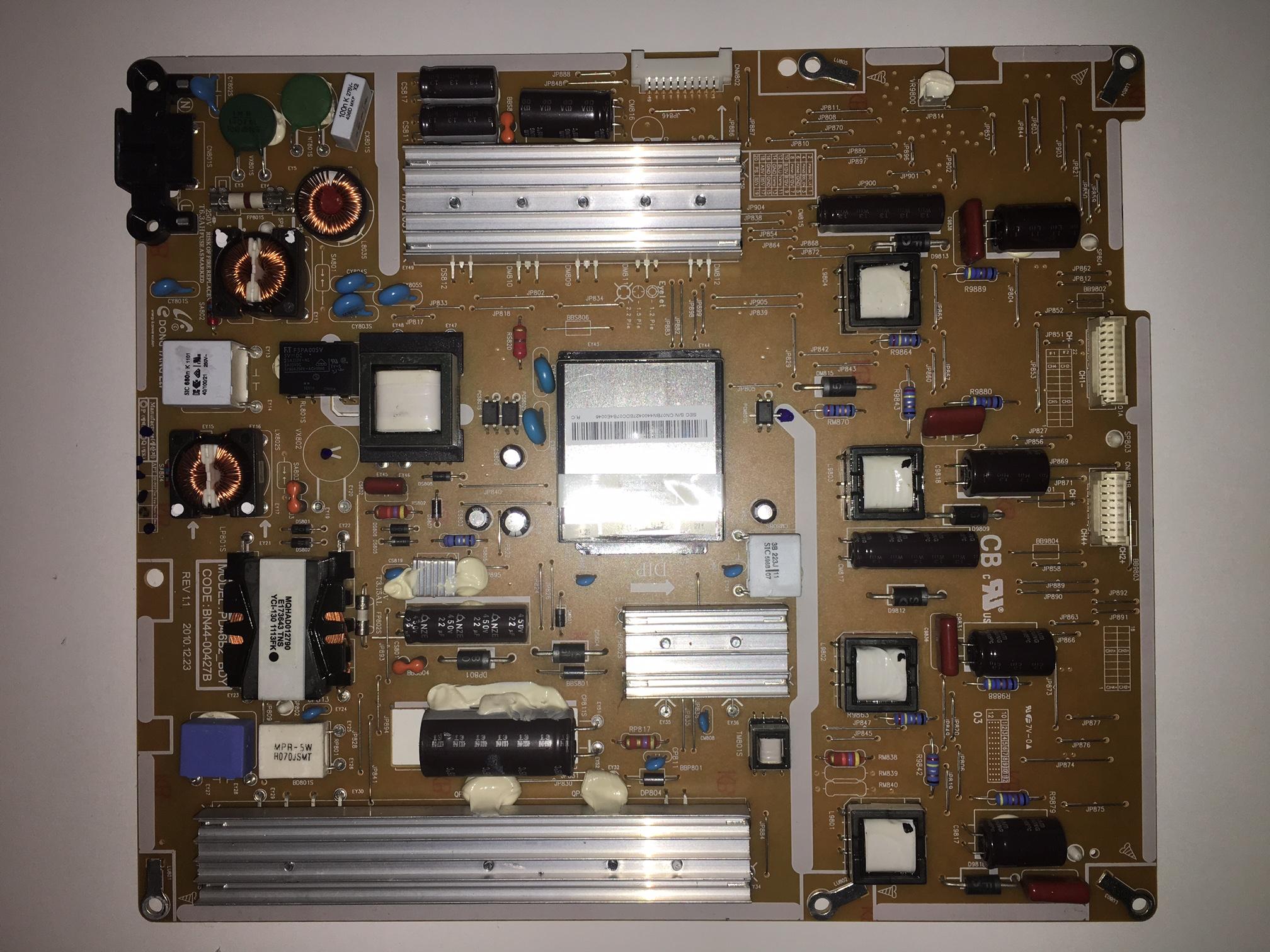 Samsung BN44-00427B (PD46B2_BDY) Power Supply / LED Board