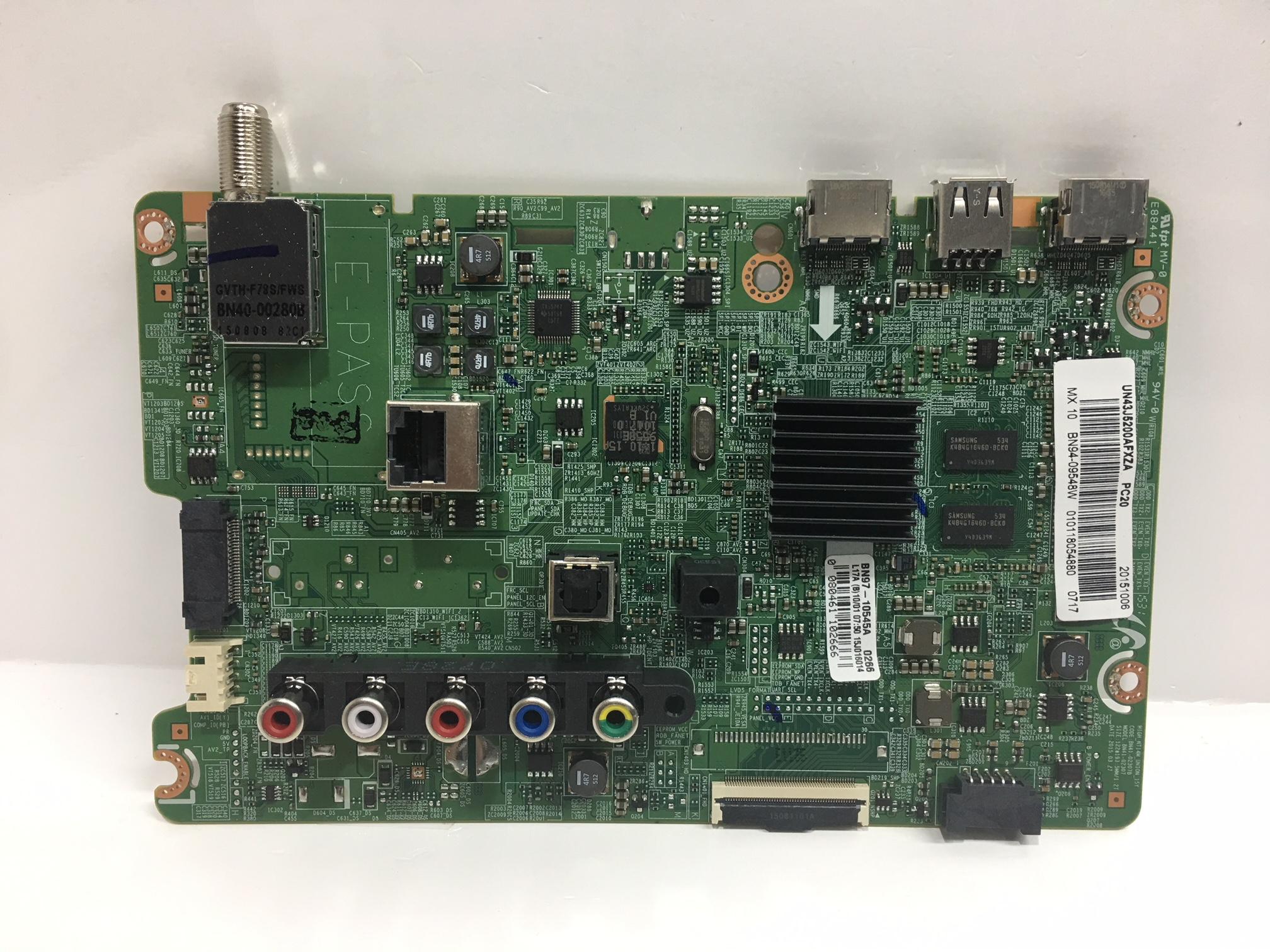 Samsung BN94-09548W Main Board for UN43J5200AFXZA (DD02)