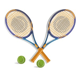TennisRacketVectorClipArt