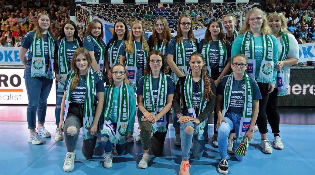 Hombergs weibl. B-Jugend besuchte letztes Heimspiel der HSG Wetzlar gg.  TVB Stuttgart