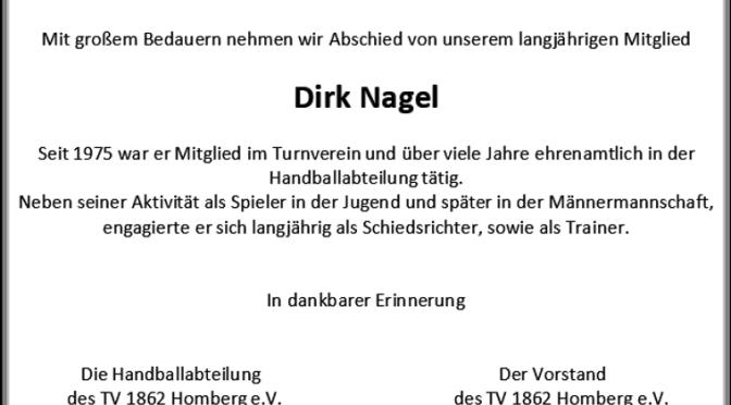 Nachruf Dirk Nagel