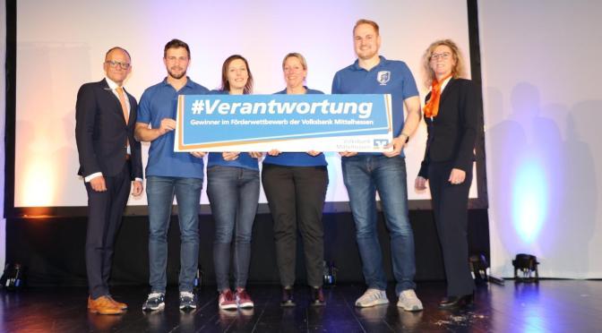 """Handballabteilung gewinnt bei Volksbank-Aktion """"Gemeinsam für Mittelhessen – Packen wir es an!"""""""