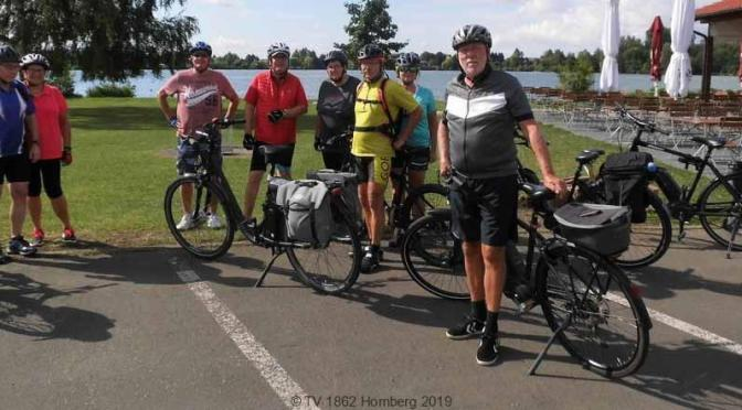 Vulkanbiker des TV 1862 Homberg auf Radtour durch die Wetterau