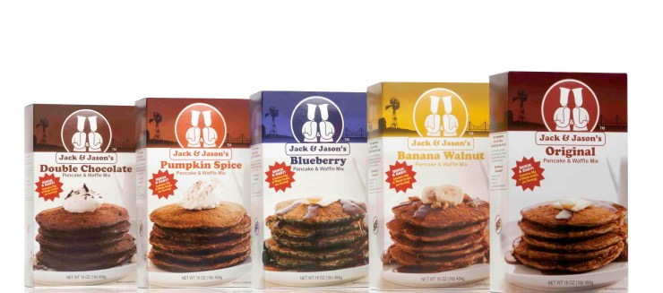 Jack & Jason's Pancake mixes