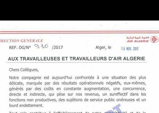 Document Exclusif La Triste Lettre Du Pdg De La Compagnie à