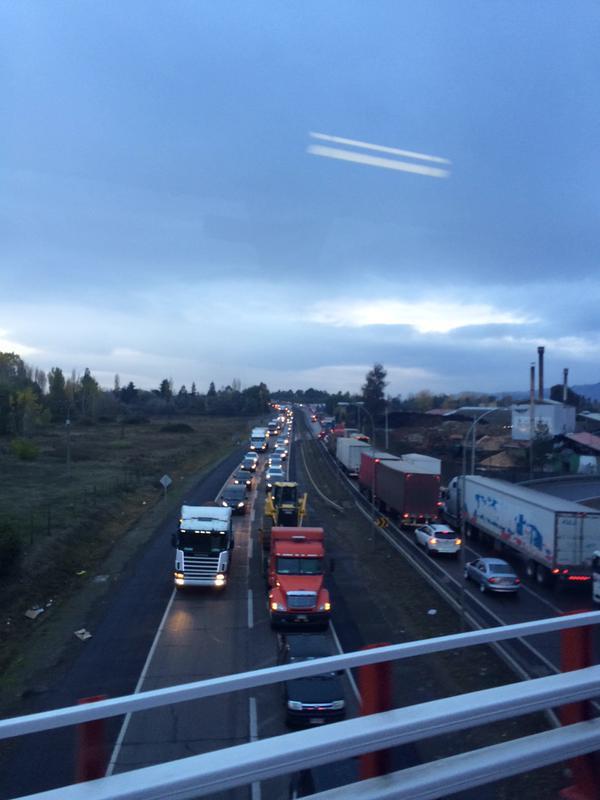 congestión ruta 5 sur talca, puente lircay