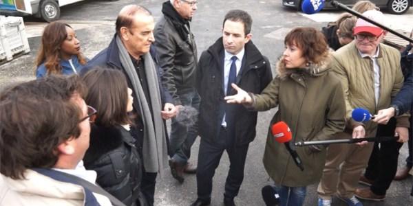 Benoît Hamon dans l'Hérault : Présentation de la filière de conchiliculture du Bassin de Thau