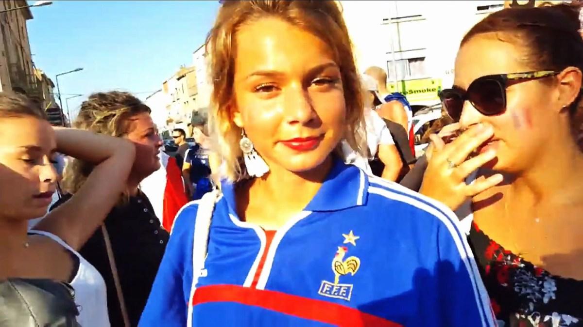 Mèze fête la victoire de la France au mondial de Football