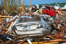 One of thousands of vehicles destroyed in Joplin tornado