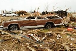 Flattened station wagon in Joplin, MO