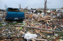 Vehicles and rubble from Joplin twister